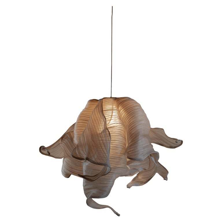 Contemporary Nebula Fabric and Wire LED Pendant Light from Studio Mirei For Sale