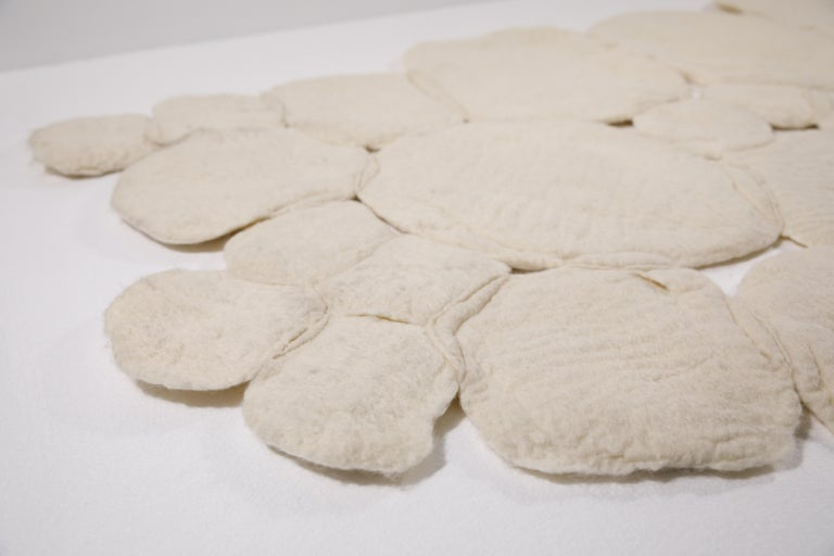 """Contemporary """"Nevoeiro"""" felted wool blanket or rug by Inês Schertel, Brazil, 2019  Ines Schertel's primary material is sheep's wool. As a practitioner of slow design, the artist takes a holistic approach to textile design, personally overseeing"""