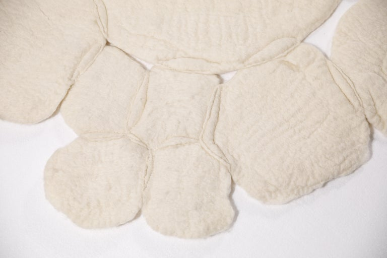 "Brazilian Contemporary ""Nevoeiro"" Felted Wool Blanket or Rug by Inês Schertel, Brazil 2019 For Sale"