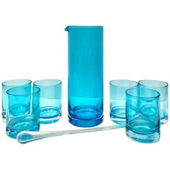 Contemporary & New Blown Glass Drinks Set of Eight