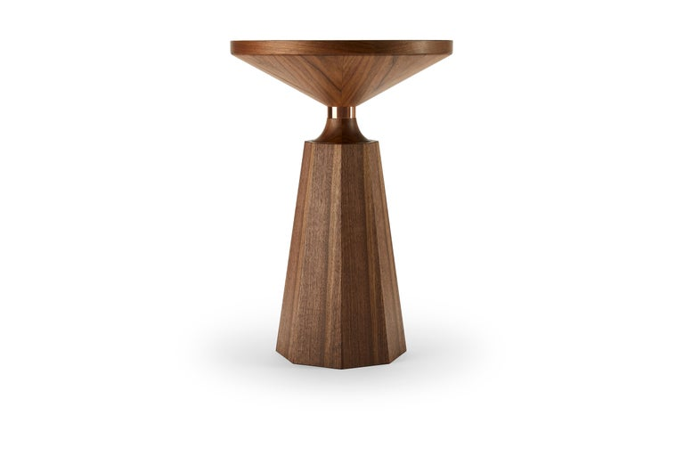 In homage to one of our most celebrated pieces we have created the Nicole II. This 2nd generation Nicole is made with the same craftsmanship, yet delicately finessed. Crafted by hand from solid and veneered oak or walnut, this table has a simple but