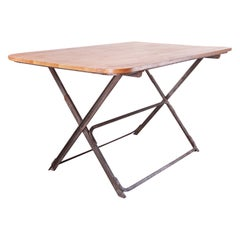 Contemporary Oak Folding Console/Side or Low Square Dining Table