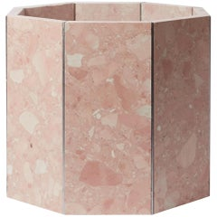 Contemporary Octagon Narcissus Planter / Pot in Pink Rosa Perlino Terrazzo