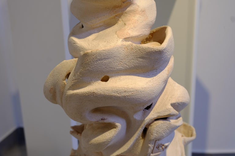 Italian Contemporary Off-White Clay Sculpture For Sale