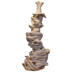 Contemporary Off-White Clay Sculpture