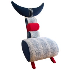 """Contemporary One-of-a-Kind Nathalie Guez """"Scorpio"""" Designer Upholstered Chair"""