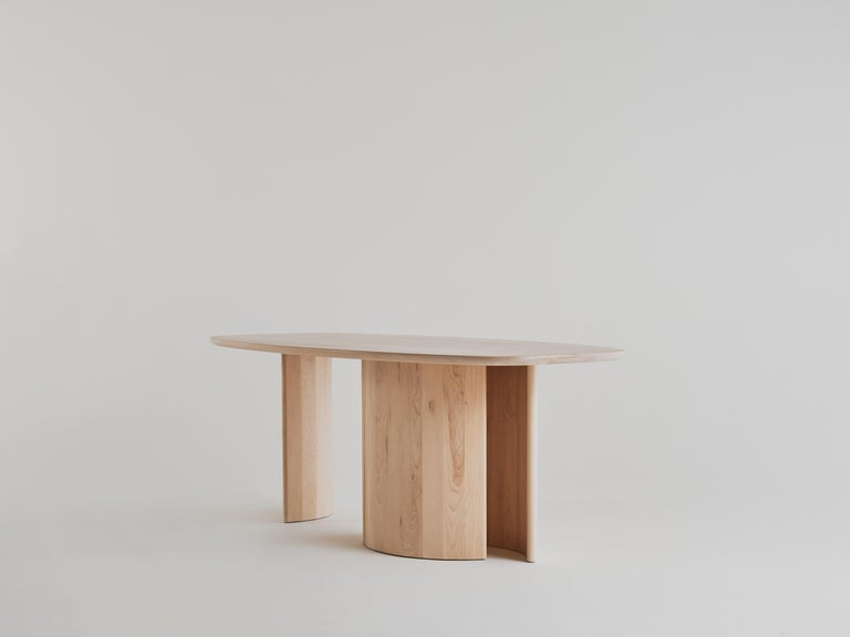 American Contemporary Organic Sculptural Maple Wood Dining Table by Campagna, in Stock