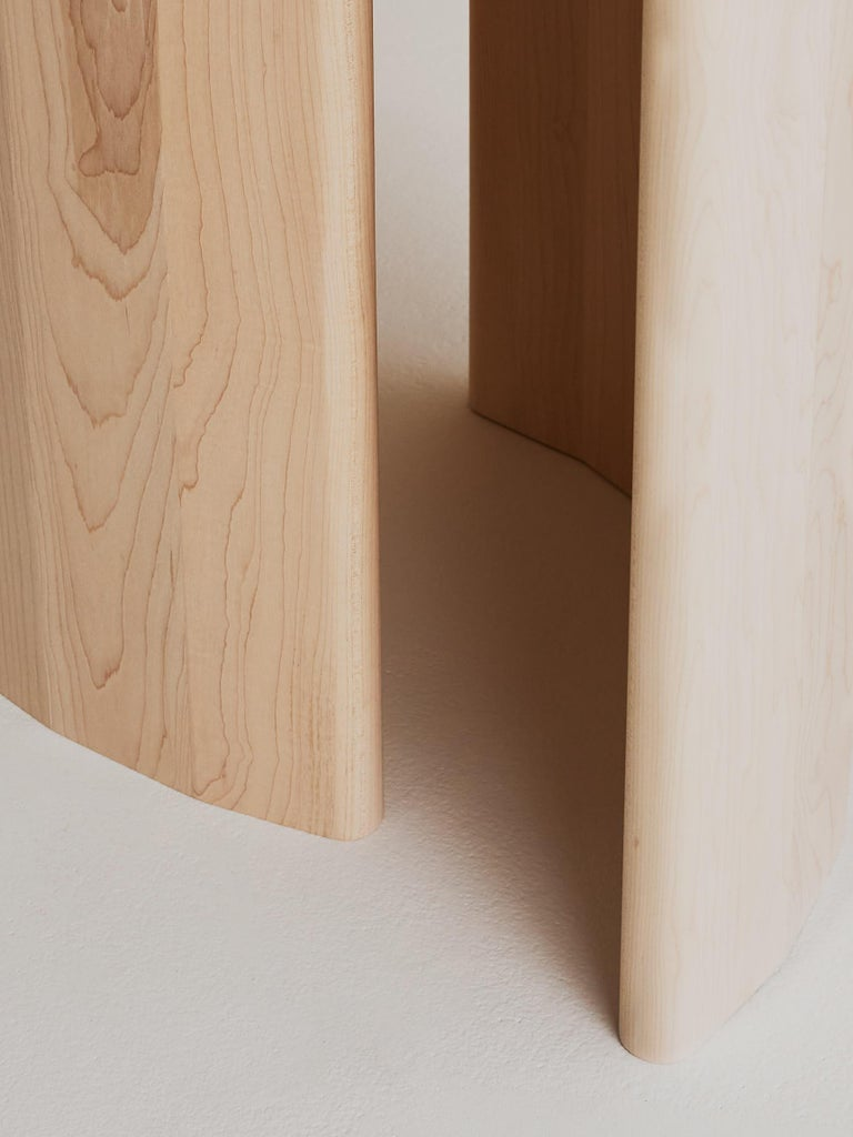 Hand-Crafted Contemporary Organic Sculptural Maple Wood Dining Table by Campagna, in Stock