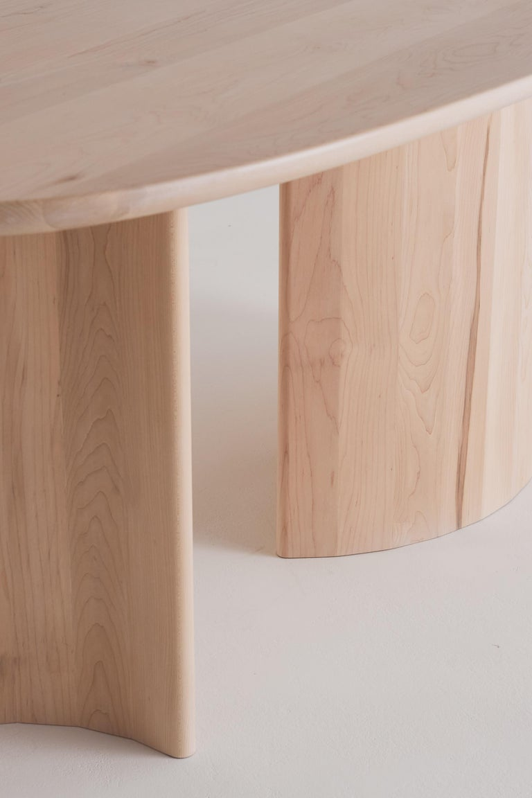 Contemporary Organic Sculptural Maple Wood Dining Table by Campagna, in Stock In New Condition In Portland, OR