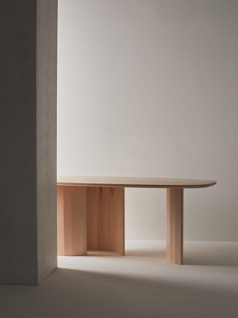Contemporary Organic Sculptural Maple Wood Dining Table by Campagna, in Stock 2