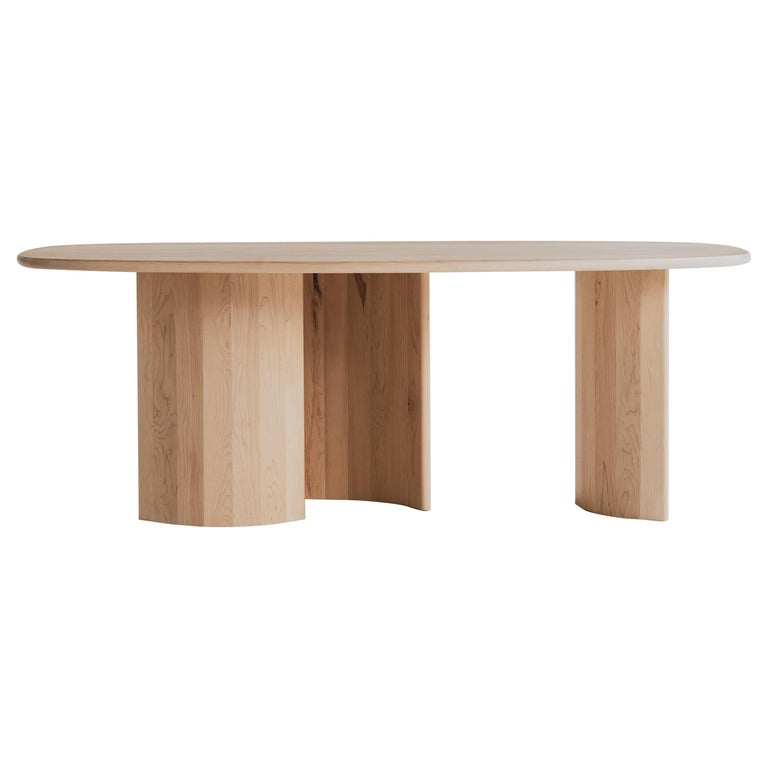 Contemporary Organic Sculptural Maple Wood Dining Table by Campagna, in Stock