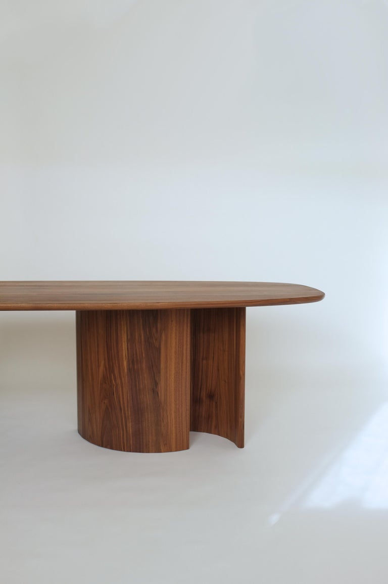 Dining table for Richard by Campagna in walnut.