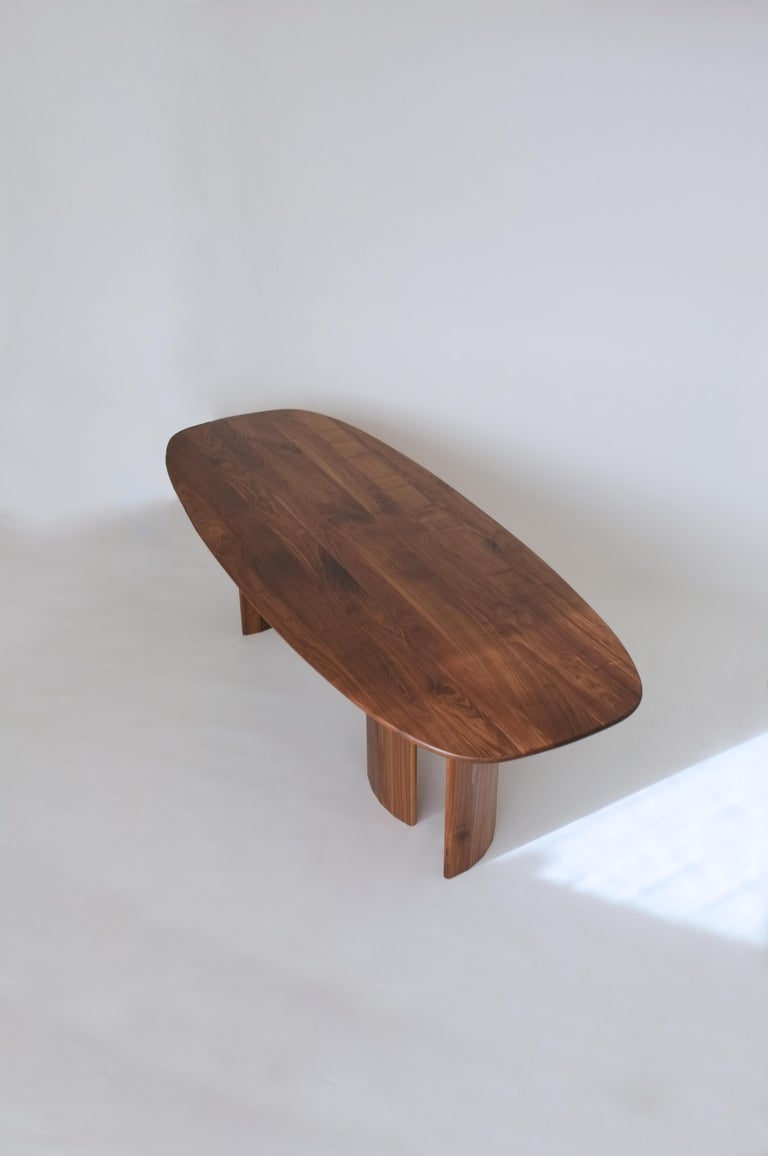 Modern Contemporary Organic Sculptural Walnut Wood Dining Table for Richard by Campagna For Sale