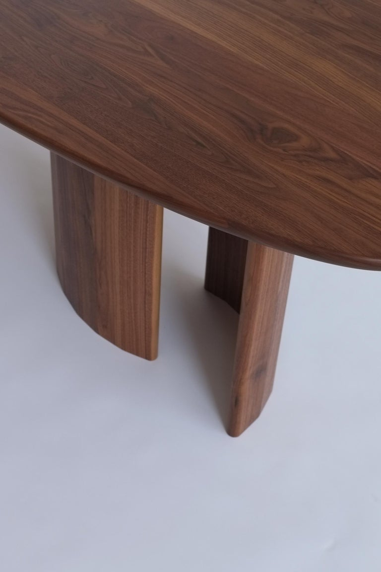 American Contemporary Organic Sculptural Walnut Wood Dining Table for Richard by Campagna For Sale