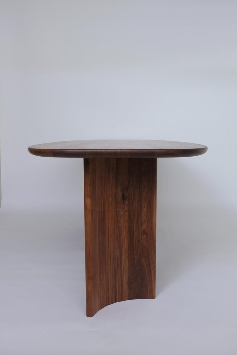 Hand-Crafted Contemporary Organic Sculptural Walnut Wood Dining Table for Richard by Campagna For Sale