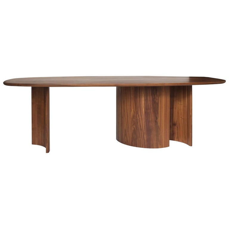 Contemporary Organic Sculptural Walnut Wood Dining Table for Richard by Campagna For Sale