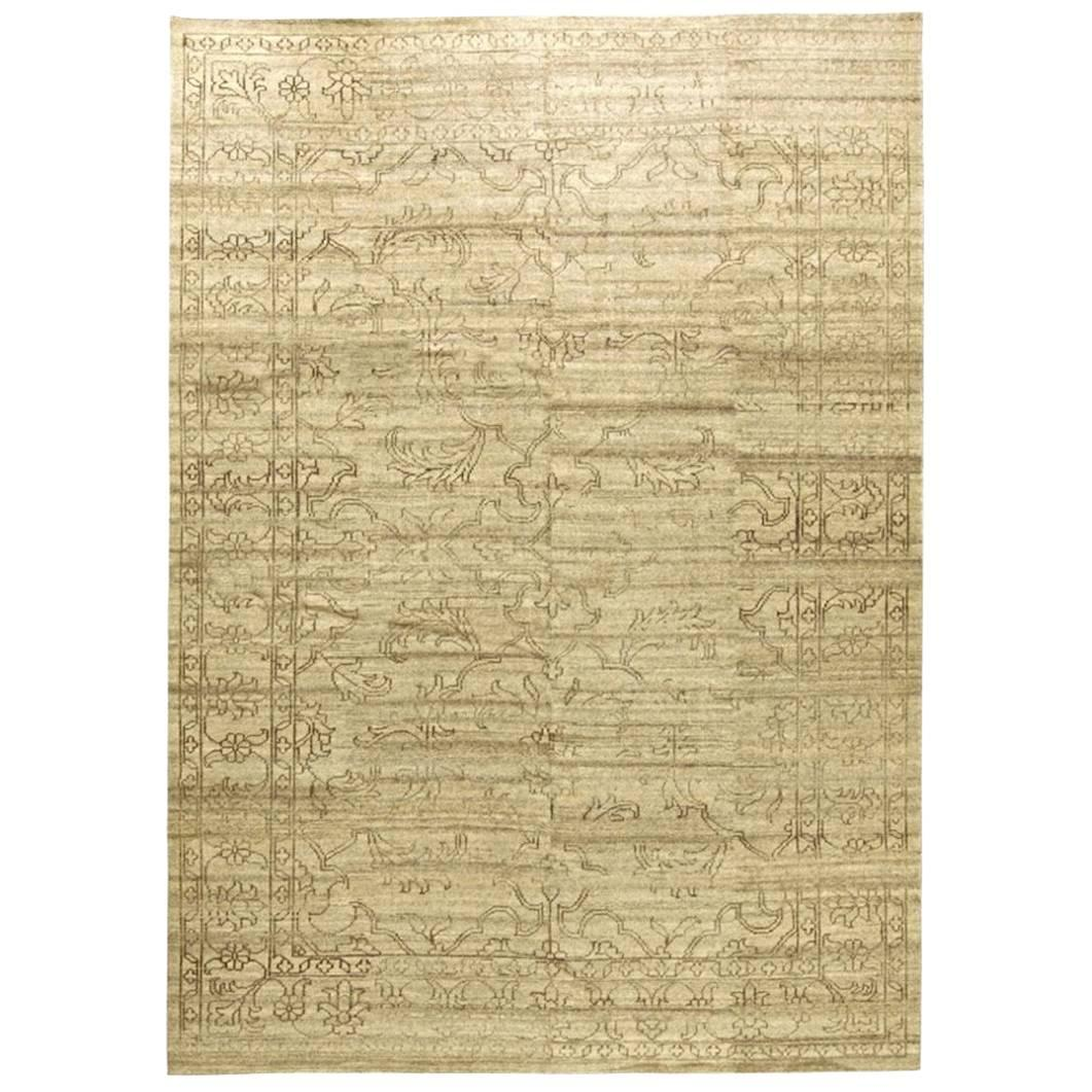 Contemporary Oriental Hand-Knotted Area Rug