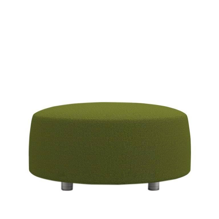 Contemporary Ottoman Grand Upholstered Green Textile Conversation Collection