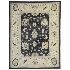 Contemporary Oushak Designer Area Rug with Hollywood Regency Directoire Style