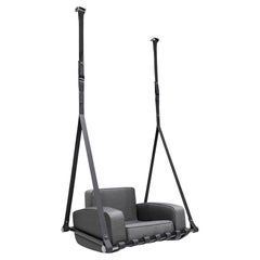 Contemporary Outdoor Hangingchair Black Stainless Steel Waterproof Fabric Black