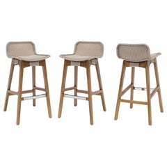Contemporary Outdoor/Indoor Counter Stool Set of 3