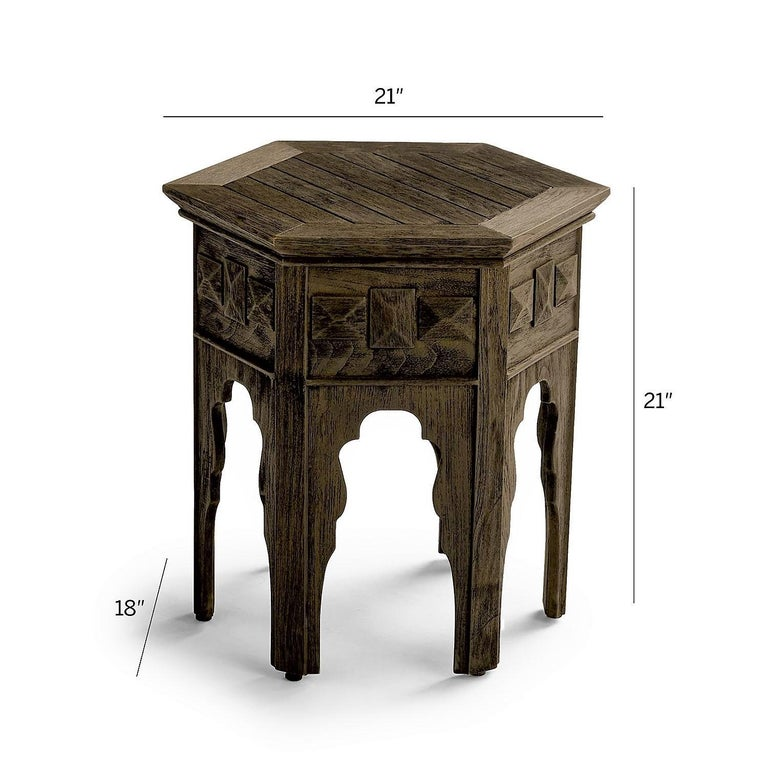 European Contemporary Outdoor Moroccan Side Tables, Set of 2 For Sale