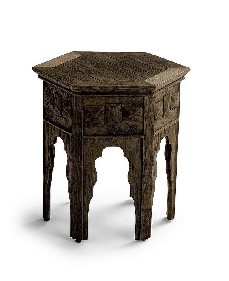 Contemporary Outdoor Moroccan Side Tables, Set of 2 In New Condition For Sale In New York, NY
