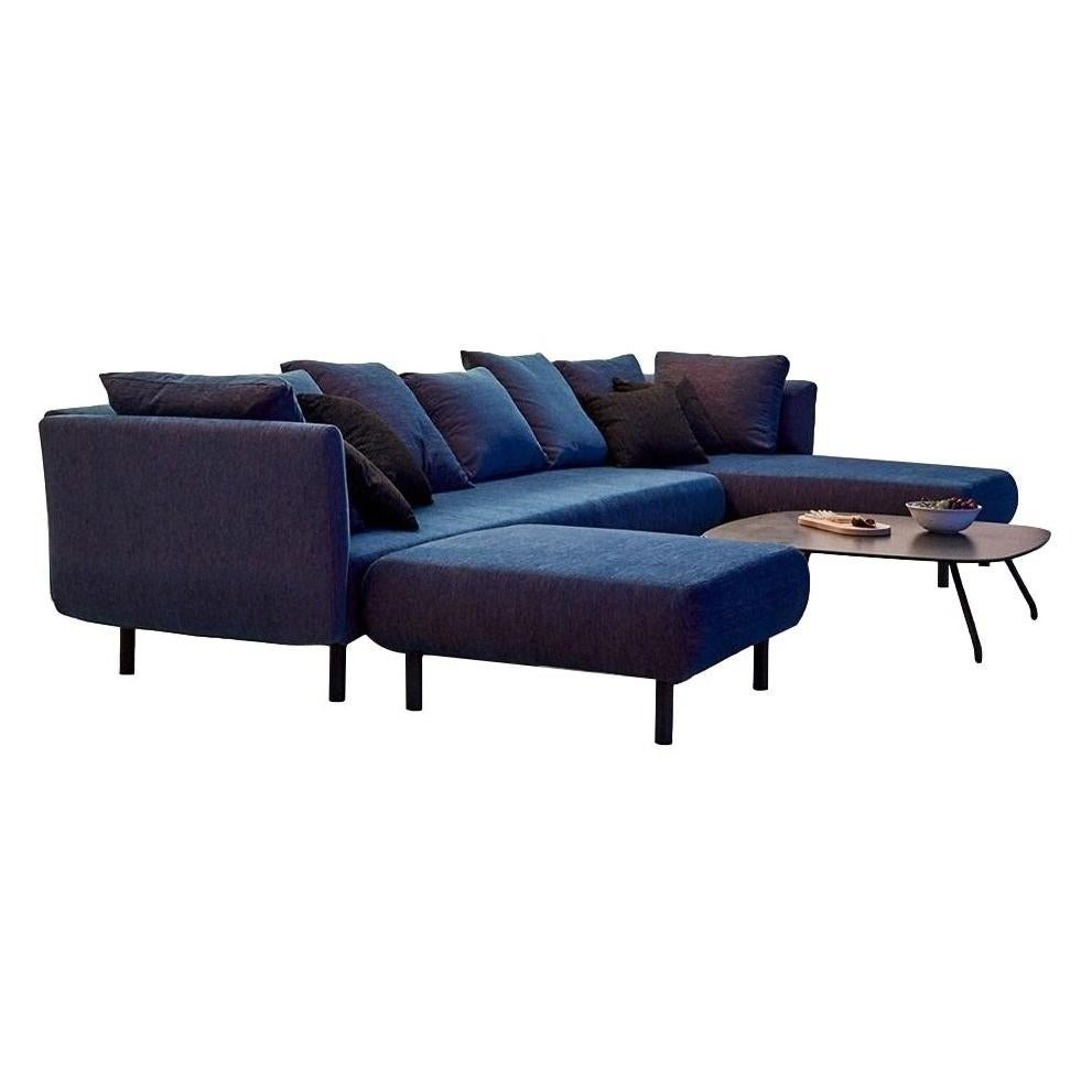Contemporary Outdoor Sectional Sofa in Marine Blue