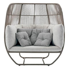 Contemporary Outdoor Woven Rope Lounge Chair