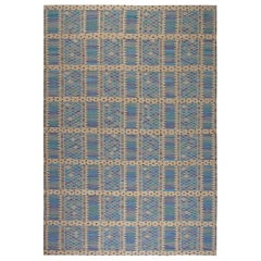 Contemporary Oversized Swedish Orebro Hand Knotted Wool Rug