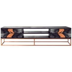 Zeitgenössisches Oxara Handgefertigtes Sideboard oder Anrichte aus Messing und Kupfer