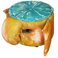 Contemporary Padded Stool by Gaetano Pesce 2009 in Multi-Color Ulphostery