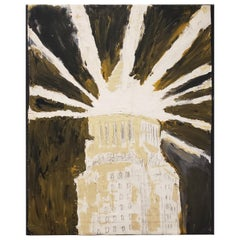 Contemporary Painting of Los Angeles City Hall by Artist Lionel Lamy