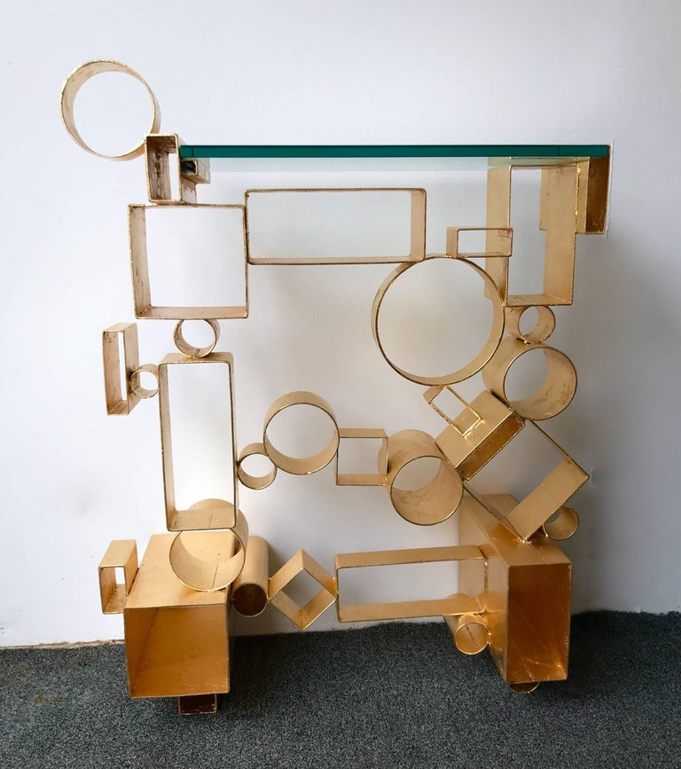Contemporary Pair of Console Geometry by Antonio Cagianelli, Italy For Sale 5