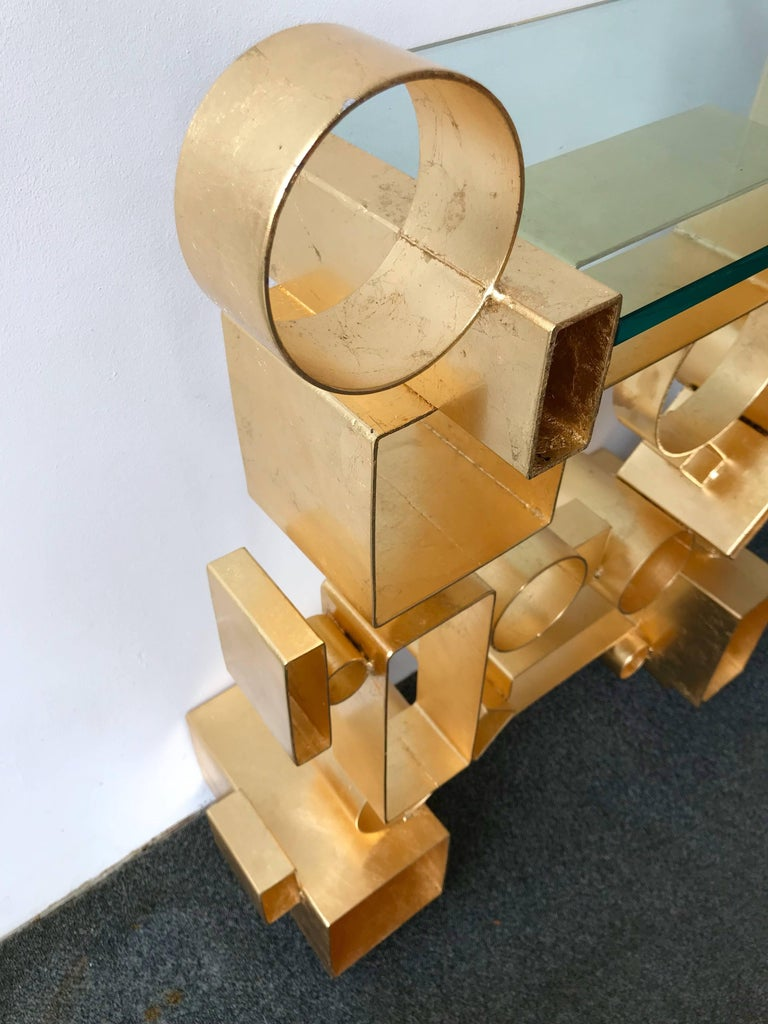 Contemporary Pair of Console Geometry by Antonio Cagianelli, Italy For Sale 6