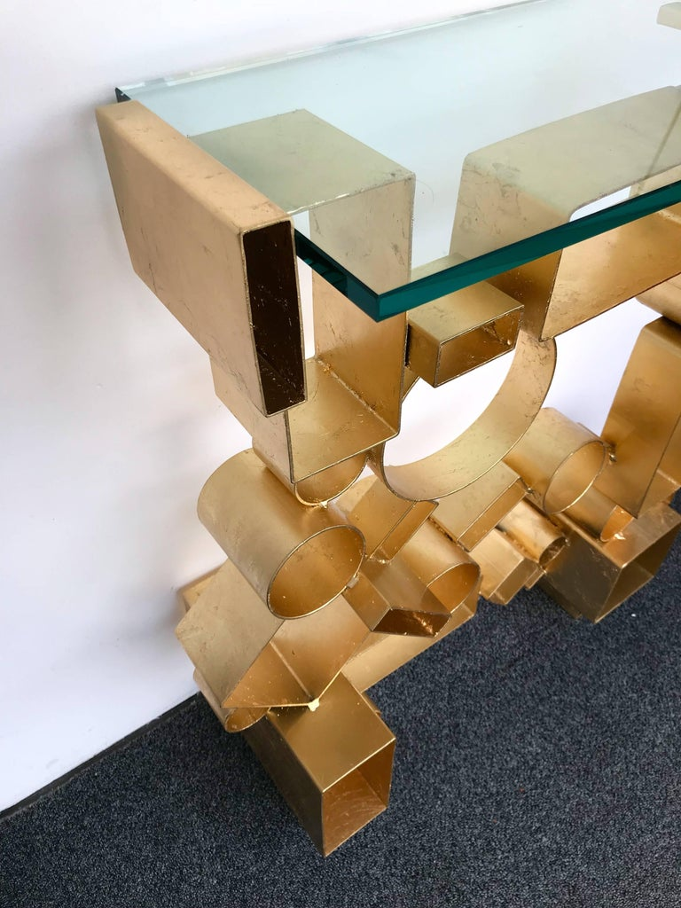 Contemporary Pair of Console Geometry by Antonio Cagianelli, Italy For Sale 7
