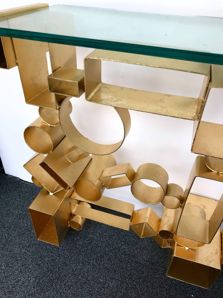 Contemporary Pair of Console Geometry by Antonio Cagianelli, Italy For Sale 2
