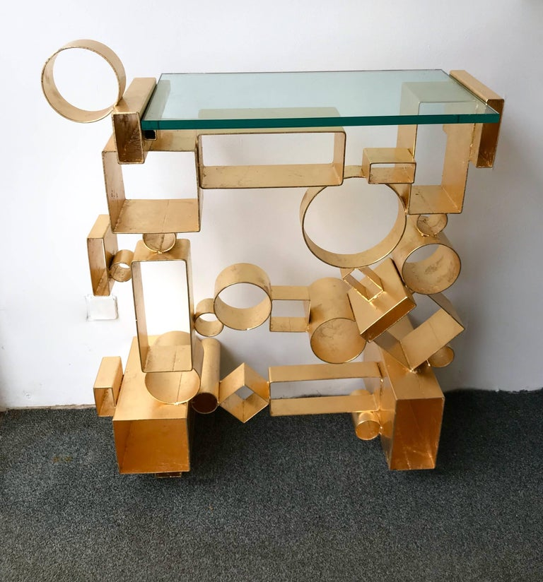 Contemporary Pair of Console Geometry by Antonio Cagianelli, Italy For Sale 3