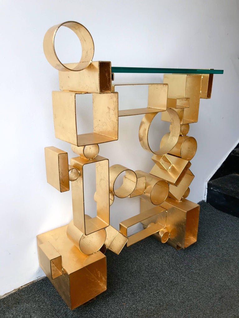 Contemporary Pair of Console Geometry by Antonio Cagianelli, Italy For Sale 4