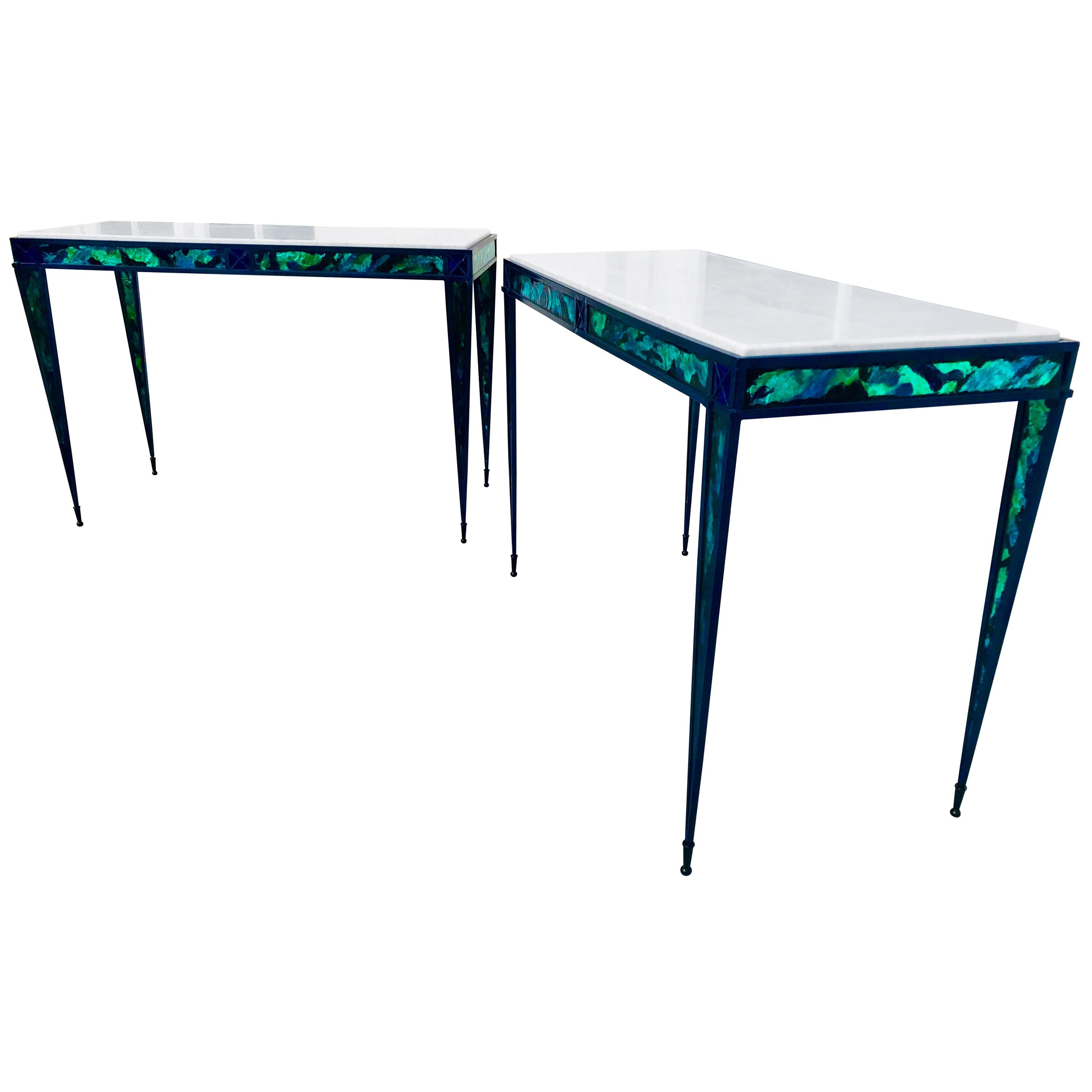 Contemporary Pair of Console Tables