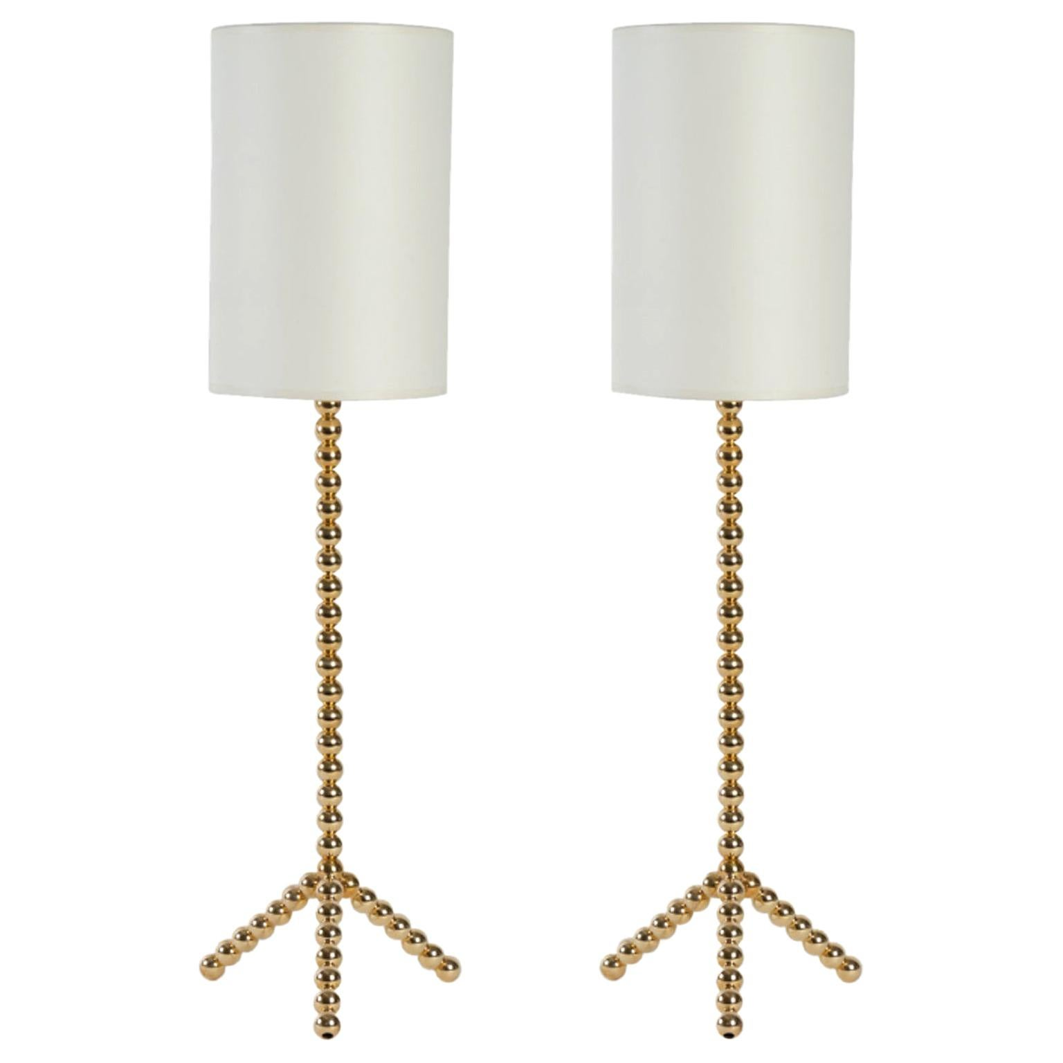 Contemporary Pair of Ribambelle Table Lamps, Vingtieme Edition