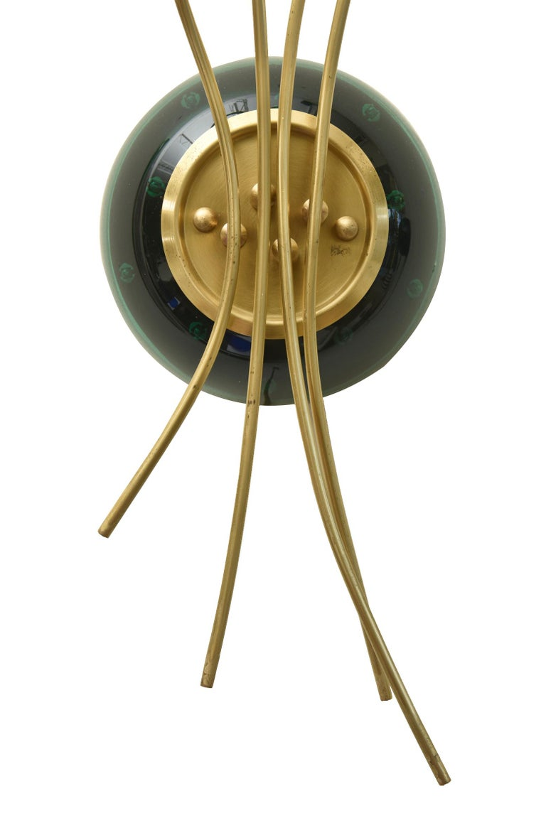 Contemporary Pair of Sculptural Murano Glass Infinity and Brass Sconces For Sale 1