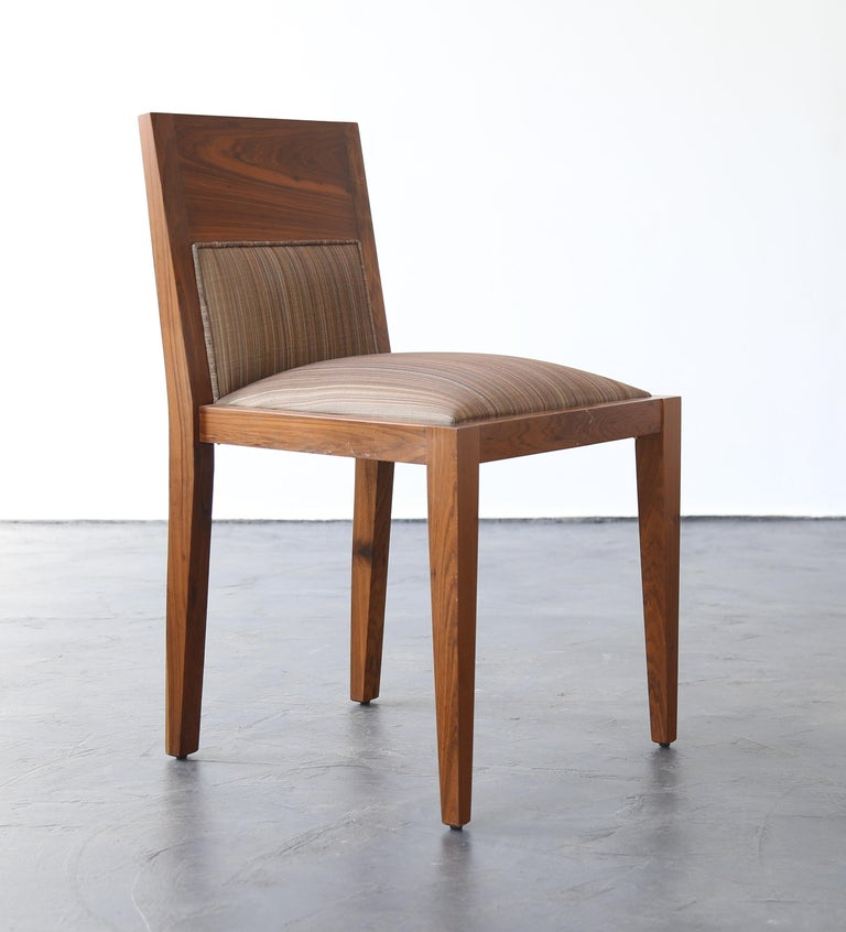 Wood Contemporary Palermo Hollywood Upholstered Dining Chair from Costantini For Sale