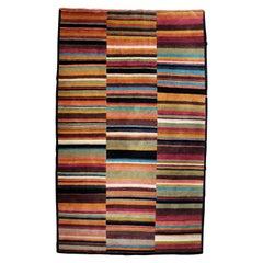 Contemporary Pangden Pattern Tibetan Area Rug Carpet 1990s Rectangular Large