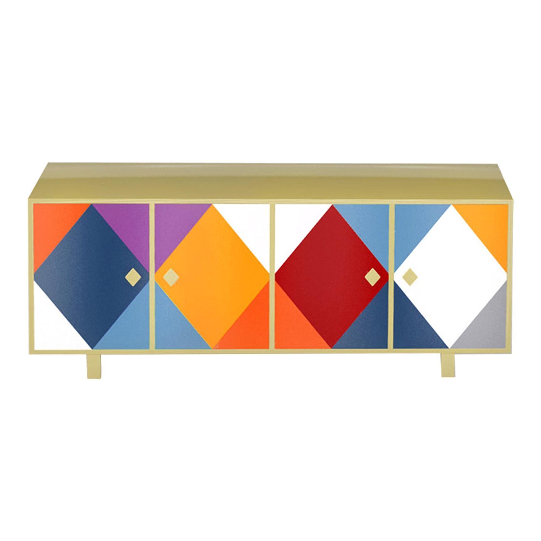 Contemporary Pantalone Cabinet in Aluminium by Altreforme