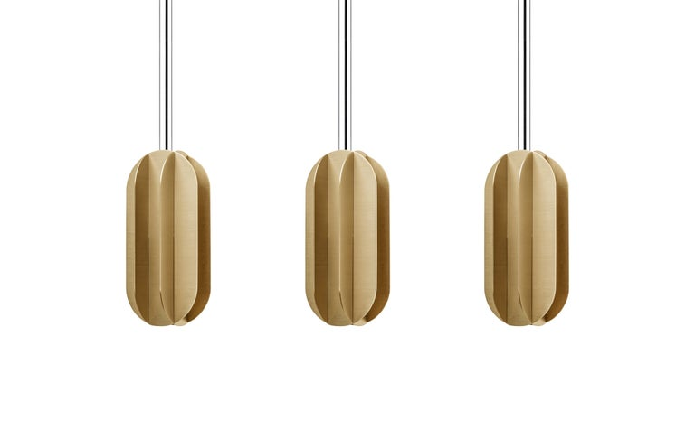 Modern Contemporary Pendant Lamp EL Lamp Large CS1 by NOOM in Brass For Sale