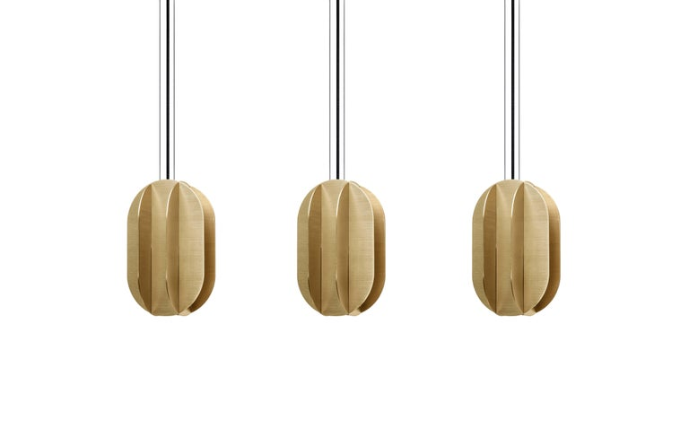 Modern Contemporary Pendant Lamp EL Lamp medium CS1 by NOOM in Brass For Sale