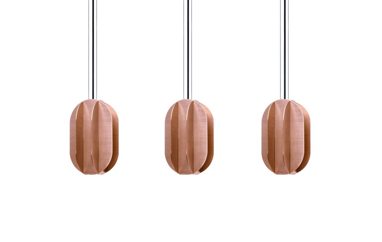 Contemporary Pendant Lamp EL Lamp medium CS2 by NOOM in Copper In New Condition For Sale In Kyiv, UA