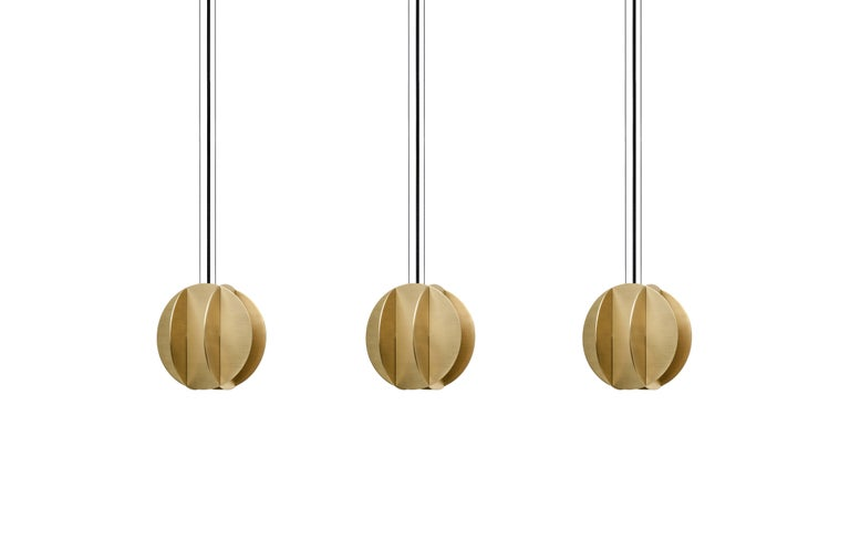 Modern Contemporary Pendant Lamp EL Lamp small CS1 by NOOM in Brass For Sale