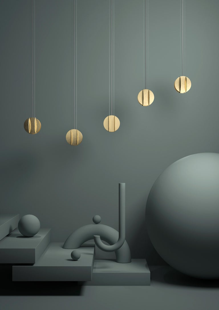 Contemporary Pendant Lamp EL Lamp small CS1 by NOOM in Brass In New Condition For Sale In Kyiv, UA